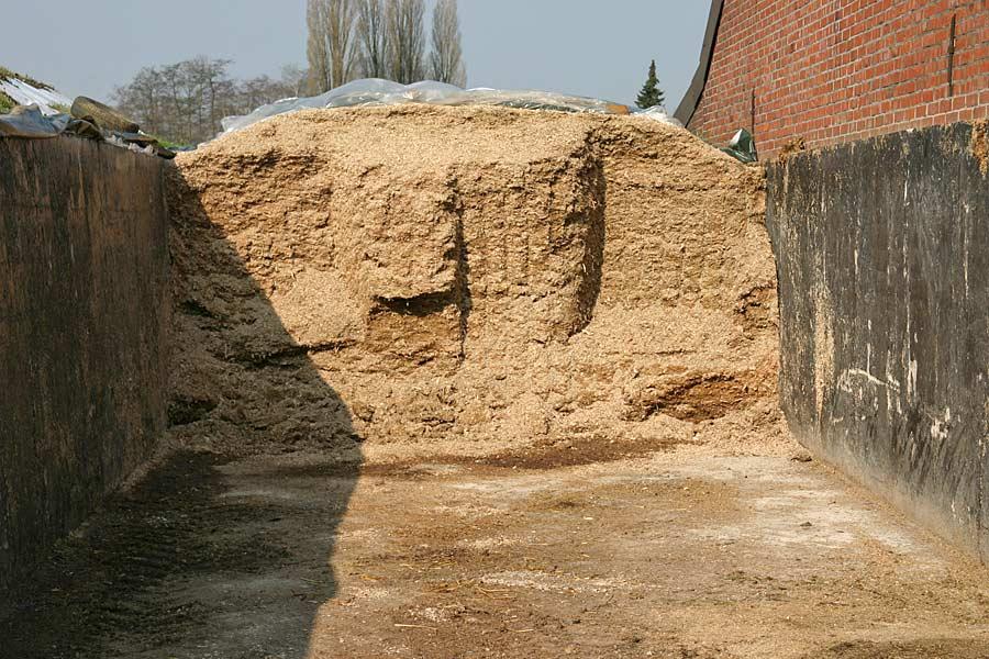 Fahrsilo mit Maissilage, © ballensilage.com