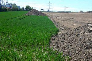 Flächenverbrauch für Gewerbegebiet, © getreidekonservieren.de