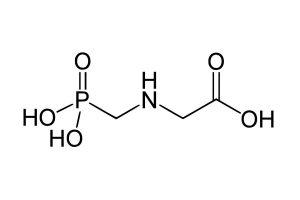Strukturformel Glyphosat