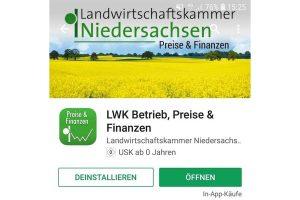 """Verbessert und erweitert: Die App """"LWK Betrieb, Preise & Finanzen"""" erfreut sich großer Beliebtheit. Seit Markteinführung wurde die App bislang auf insgesamt 20.600 Geräten eingesetzt, © LWK NDS /  Wolfgang Ehrecke"""