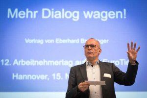 Eberhard Breuninger, Hauptredner des Arbeitnehmertags der Landwirtschaftskammer Niedersachsen am 15.11.2018 in Hannover, LWK NDS / Wolfgang Ehrecke