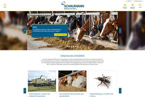 Screenshot neue Schaumann-Webseite, © Schaumann