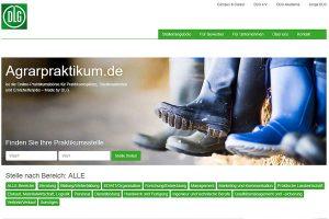 Screenshot agrarpraktikum.de, © DLG