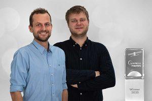 Morten Fjord Pedersem (li.) und Malthe Dahl Jensen, beide Gründer und CEO, von ClearSky Vision, © AZO