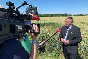 Bauernpräsident Walter Heidl bei der Erntepressefahrt, © BBV