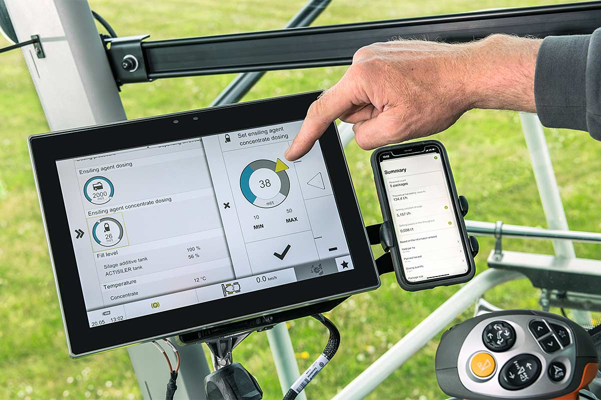Silage additive app, © Claas